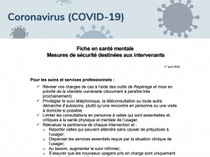 Screen grab of guidance document