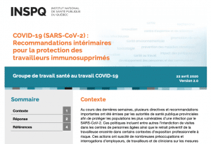 report cover with French title and teal blue banner across the top