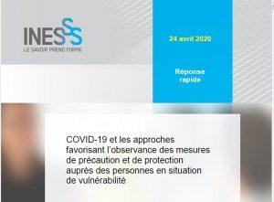 COVID-19 et les approches favorisant l'observance des mesures de précaution et de protection auprès des personnes en situation de vulnérabilité