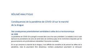 Conséquences de la pandémie de COVID-19 sur le marché de la drogue