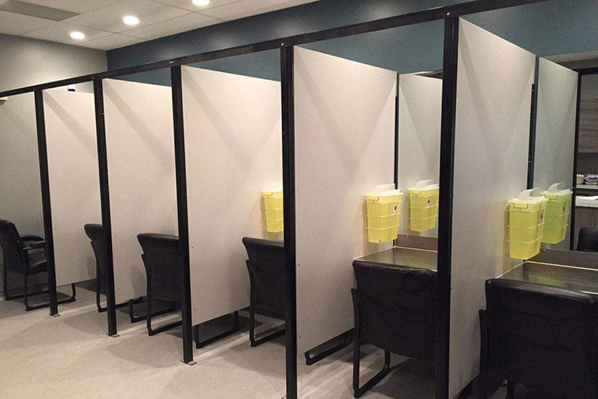 Stalls used for supervised consumption at ARCHES SCS