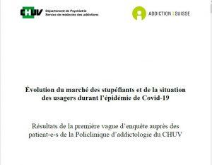 Évolution du marché des stupéfiants et de la situation des usagers durant l'épidémie de Covid-19