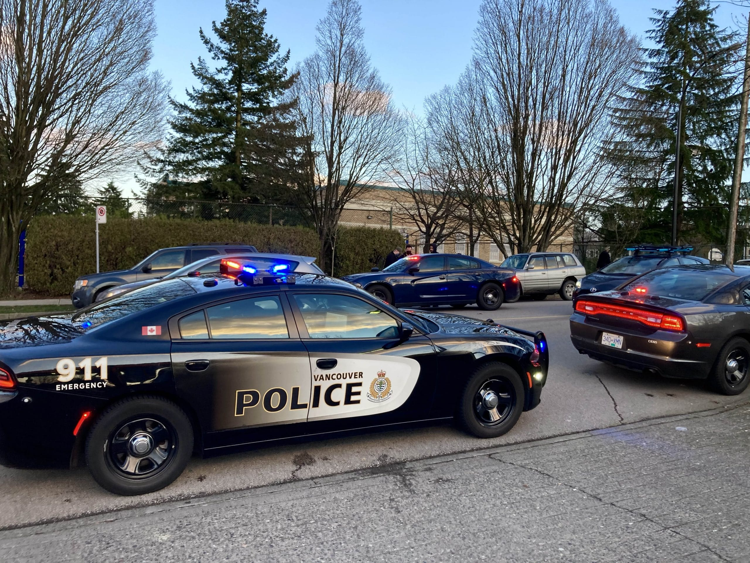 Vancouver police cars
